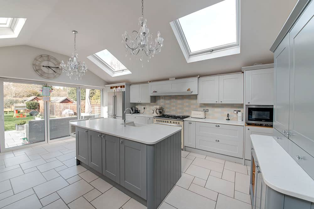 home extensions earlsfield - kitchen extension with vaulted roof