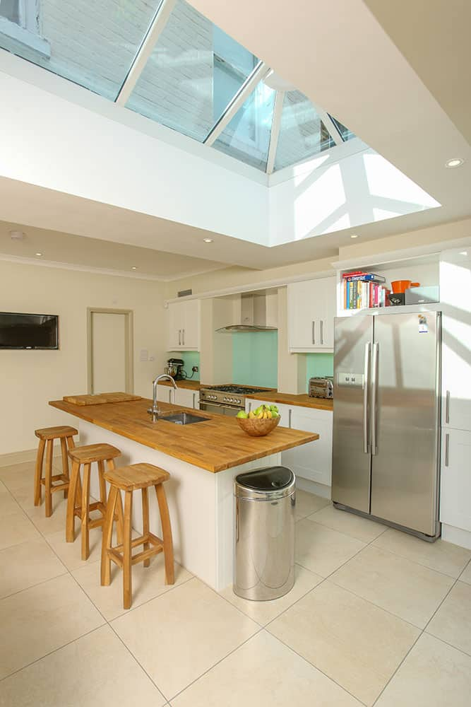 home extensions earlsfield - kitchen extension with orangery